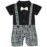 iEFiEL Baby Jungen Kinder Strampler Overall Anzug Smoking