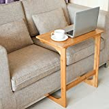 Homfa Side Table Living Room End Table Coffee Table Laptop Stand Bedside Sofa Couch Nursing Table Bamboo 55(L)*35(W)*62(H) cm