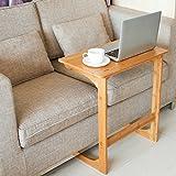 HOMFA Bambus Laptoptisch fürs bett Notebooktisch Betttisch SofatischLaptopständer Notebookständer Pflegetisch für Bett und Sofa, 55x38x62cm