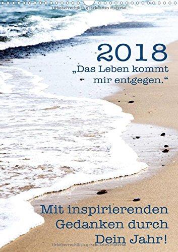 Mit inspirierenden Gedanken durch Dein Jahr. 2018 (Wandkalender 2018 DIN A3 hoch): Ein inspirierender Kalender mit 12 wunderschönen Zitaten und ... (Monatskalender, 14 Seiten ) (CALVENDO Kunst)