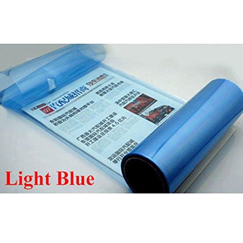 PinzhiWasserdicht Auto Scheinwerfer Folie Tönungsfolie Schwarz für KFZ Scheinwerfer Rückleuchten Nebelscheinwerfer (Blau) (Auto Tönung 60)