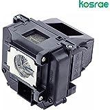 Kosrae ELPLP60/V13H010L60 proyector con carcasa para Epson BrightLink 425Wi BrightLink 430 I BrightLink 435Wi EB-420 EB-425W EB-905