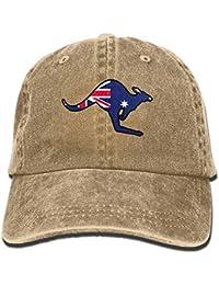 0c2fb8e70db09 Vidmkeo Bandera Australiana Canguro Snapback algodón Sombrero Unisex3
