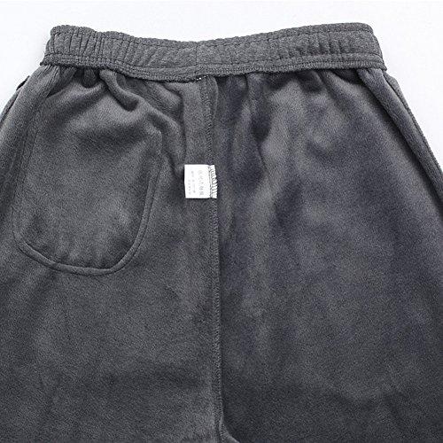 doxungo Uomo Sport Pantaloni, ispessita Hose, verbreitete e allargata Sport Pantaloni, maschile Fitness Pantaloni per autunno e inverno, Senior Pantaloni in cotone con velluto nero