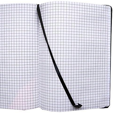 Grafico, formato A5, colore: arancione, 200pagine, a quadretti 5mm–dimensioni 210mm x 148mm