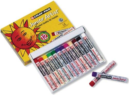 Cray-Pas Jr artista olio pastelli 12/Pkg- - Cray Pas Junior Artista Olio