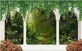 Colonne romaine Arch Forest Scenery image personnalisée 3d photo papier peint salon murale canapé TV fond d'écran, 350x245cm