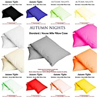NEW LUXURY 2 x PILLOW CASES HOUSEWIFE PLAIN COVER POLY COTTON BEDROOM LUXURY PAIR PACK