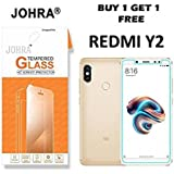 Johra® (Buy 1 Get 1 Free) Real HD+ Tempered Glass For Xiaomi Mi Redmi Y2 - Redmi Y2 Tempered Glass