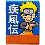 Cartera de Naruto Shippuden 16-bit retro Ninja Azul