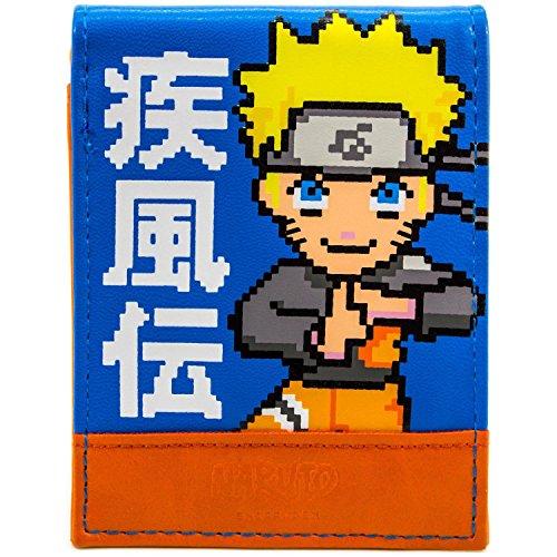 Naruto Shippuden 16-Bit-Retro Ninja Blau Portemonnaie (Shippuden Kostüm Sasuke)