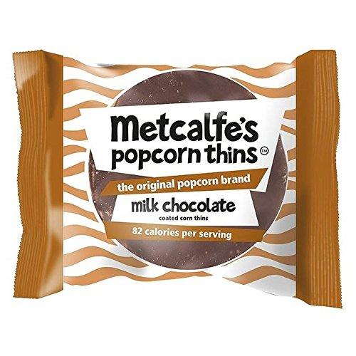 Maigre Popcorn De Chocolat Au Lait De Metcalfe Amincit 34G (Paquet de 2)