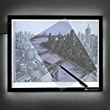 Voilamart A3 Tracing Board Ultra-thin Brightness Adjustable LED Drawing Copy Board Micro Artcraft Animation Drawing Pad Artist Light Box with Cables, Carry Bag, Clamp