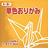 Toyo Origami Paper Single Color - Gold - 11.8cm, 100 Sheets