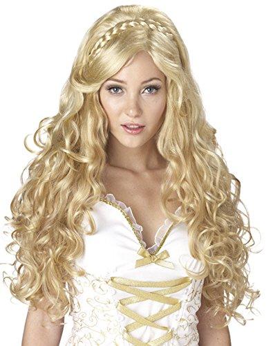 cke blond mit Locken Einheitsgröße (Griechische Göttin Perücke)