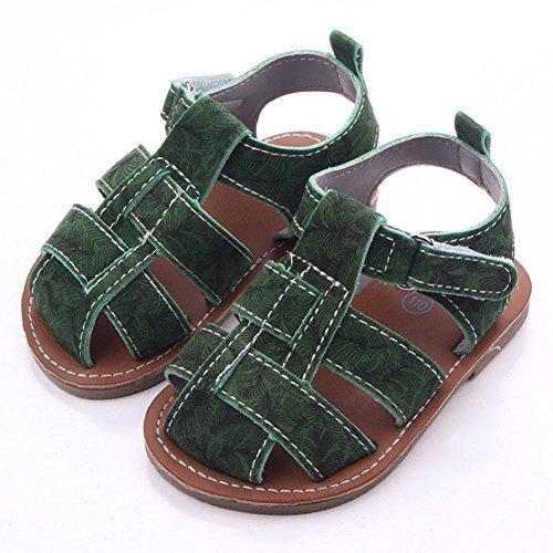 Etrack-Online  Baby Sandals, Baby Jungen Lauflernschuhe, grau - grau - Größe: 0-6 Monate grün