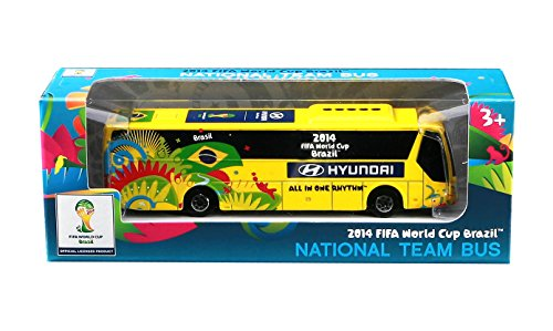 Maisto–Official FIFA Autobus Hyundai, Scala 1: 95, Colore: Giallo, 24023b
