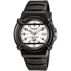 Casio Men's Quartz Watch with Digital Display and Resin Bracelet