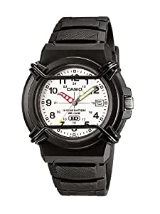 Casio Men's HDA-600B-7BVEF Quartz Watch with Off-White Dial Analogue Display and Black Resin Bracelet