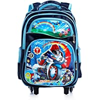 Dolphy Polyester Blue Trolley Bag for Kids