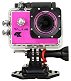 TALIUS sportcam-cámara Digital 8 MP (4 K, WLAN, HDMI, 2 LCD-Display, CMOS), Pink