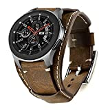 Leotop Correa Compatible con Samsung Galaxy Watch 46mm/Gear S3 Frontier/Classic, 22mm Vintage...