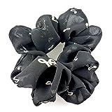 rougecaramel - Accessoires cheveux - Chouchou/ élastique cheveux motif notes de musique - noir