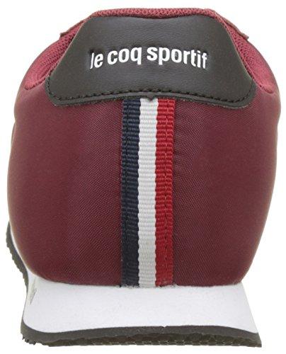 Le Coq Sportif Racerone Nylon, Formatori Bassi Unisex-Adulto Rosso (Rouge Ruby Wine/black)