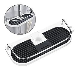 Hawsam Mensola per Doccia Senza Perforazione per Asta della Doccia – Supporto Conservatore Bagno per Shampoo, Adatto per Asta della Doccia 19mm-25mm (1Pezzi)