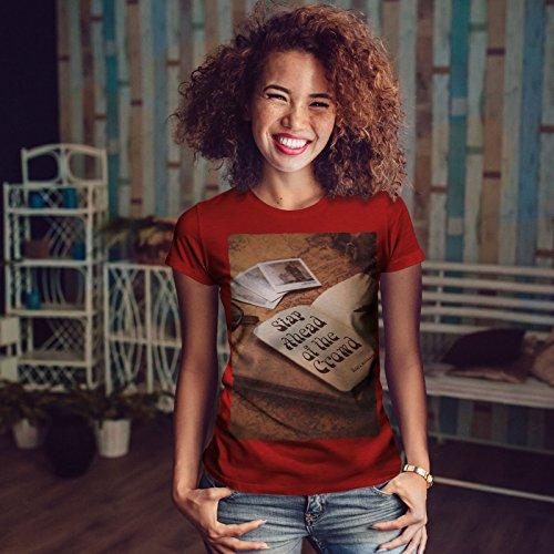 wellcoda Rétro Conception Vieux Femme S-2XL T-Shirt Rouge