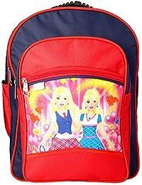 J.Dinesh Men's Red & Blue Polyester School Backpack