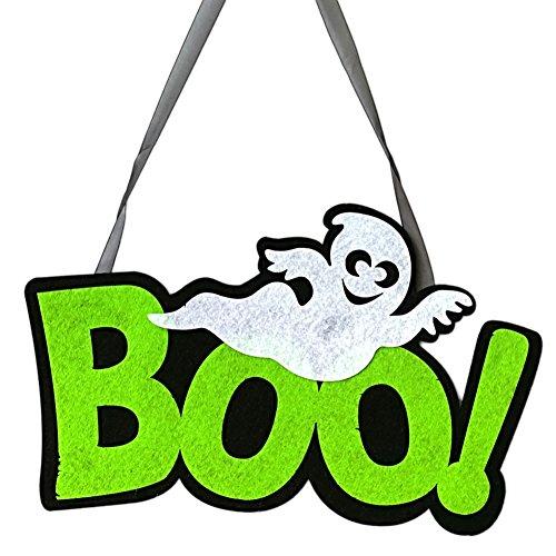 Le yi Wang You Lustiges Vlies-Boo-Gespenst zum Aufhängen an Wand Tür Fenster Zuhause Büro Dekoration Halloween Zubehör, Vliesstoff, Boo