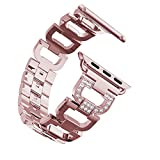 Bracelet Apple Watch 38mm Series 3 Femme Rose,Bracelet Apple Watch Serie 3 Bracelet...