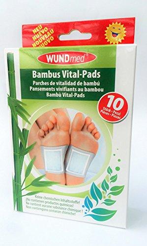 10 x Bambus Vital Pads, Wellnesspflaster zur kontinuierlichen Entgiftung, Entschlackung, Detox. Zur Beseitigung von Giftstoffen im Körper über Nacht!