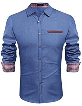 Hasuit shirt jeans made abbottonato europeo formato S-XXL