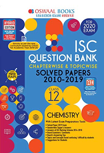 Oswaal ISC Question Bank Class 12 Chemistry Chapterwise & Topicwise (For March 2020 Exam)