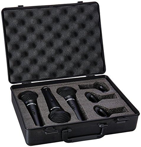 PROEL DM800KIT 3 Microfoni Dinamici e 3 Supporti ABS+ Bauletto Per Trasporto e Contenimento