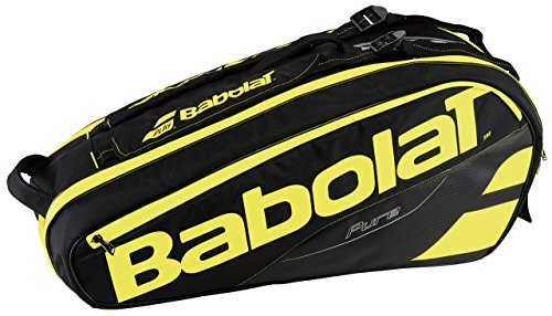 Babolat Rh X 6 Pure Fundas para Raquetas de Tenis, Unisex Adulto, Negro / Amarillo, Talla Única
