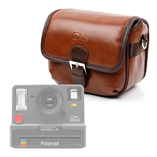 Galleria fotografica DURAGADGET Borsa Vintage Per fotocamera Polaroid OneStep 2 - Con Tracolla Regolabile - Alta Qualità