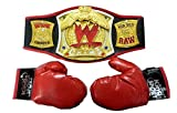WWE Championship Belt With Boxing Gloves