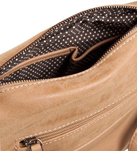 PICARD Fit 2243 Umhängetasche Tasche Damen Schultertasche 25x20x8 cm (BxHxT), Farbe:Schwarz Schwarz