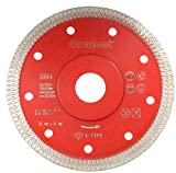 Disco de corte de diamante, 125 mm de diámetro x 22,23 mm, segmento X-Type para cortar piedra natural, cerámica, azulejos y porcelanas