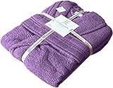 Accappatoi unisex in spugna e cotone egiziano, con cappuccio e scollo a scialle, peso: 500 g/m² Lilac (Shawl Collar) S/M