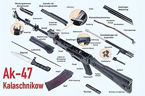 AKM-47 teile Blechschild, Kalaschnikow, AK-47 waffen,