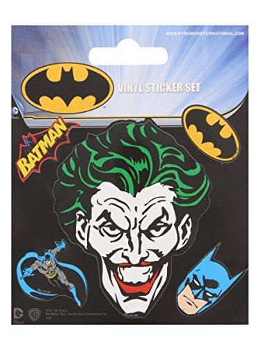 Preisvergleich Produktbild Batman Aufkleber Set 10x12.5cm. Offiziell lizenziert