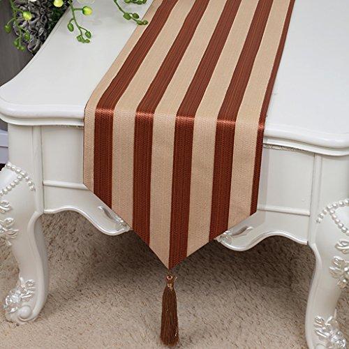QiangZi Table Runner Pratique Durable Red Stripe Motif Armoire À Chaussures Buffets Décoratif \\
