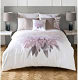 2 PIECE KARL LAGERFELD ADAHLI FLORAL PINK CREAM KING SIZE DUVET COVER SET