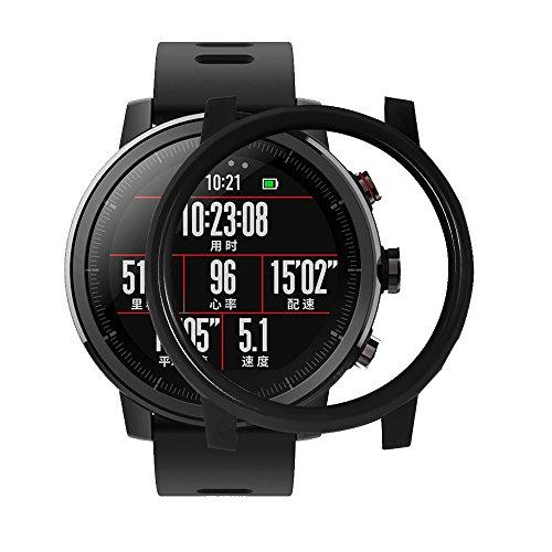 LCLrute 2018 Heiße Smart Uhr Protector Fall Schlank Schlanke PC Fall Abdeckung Schützen Shell Für Huami Amazfit Stratos Smart Uhr 2/2 s (Schwarz) Smart Protector