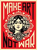 "Reproduction Shepard Fairey ""Make Art Not War!"" (46cm x 61cm)"