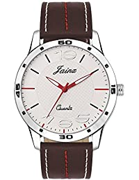 Jainx Captain White Dial Analog Watch For Men & Boys - JM271